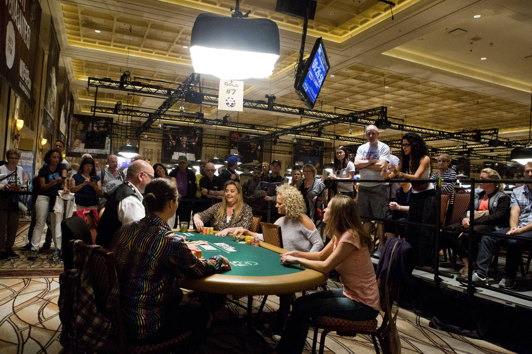 The final table of the Ladies No-Limit Hold 'em Championship plays at the World Series of Poker at the Rio Convention Center in Las Vegas on Sunday, July 9, 2017. Elizabeth Brumley Las Vegas Revie ...