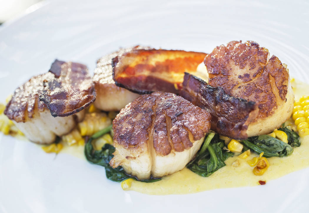 Scallops at Hawthorn Grill on Friday, July 7, 2017, at J.W. Marriott, in Las Vegas. Benjamin Hager Las Vegas Review-Journal @benjaminhphoto