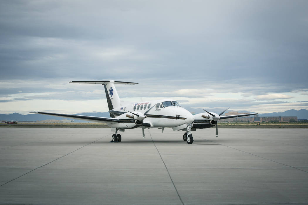 This Beechcraft King Air B200 aircraft will move from the Denver area to Las Vegas following the purchase of a Las Vegas medical air carrier. (AMR)
