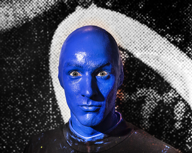 Alain Rochefort, captain of the Blue Man Group Las Vegas, has been with the hugely popular music and art show for over 10 years. Photo taken in the lobby of the Blue Man Theater on Tuesday, Jan. 3 ...