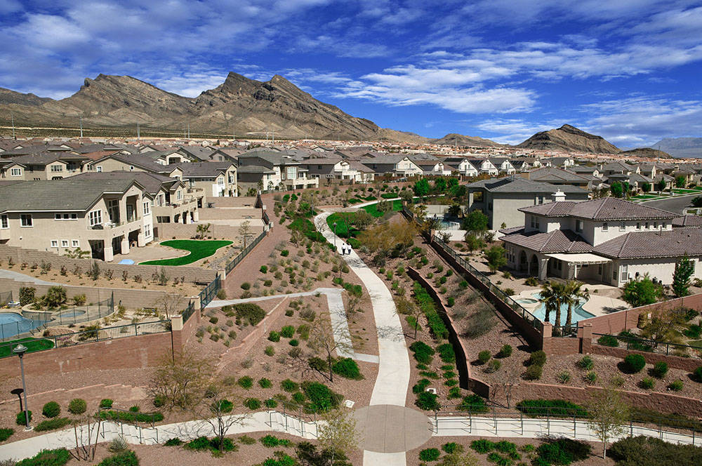 Summerlin has more than 150 miles of landscaped paths connecting neighborhoods, exercise areas and schools. It will reach 200 miles when ultimately completed. (Summerlin)