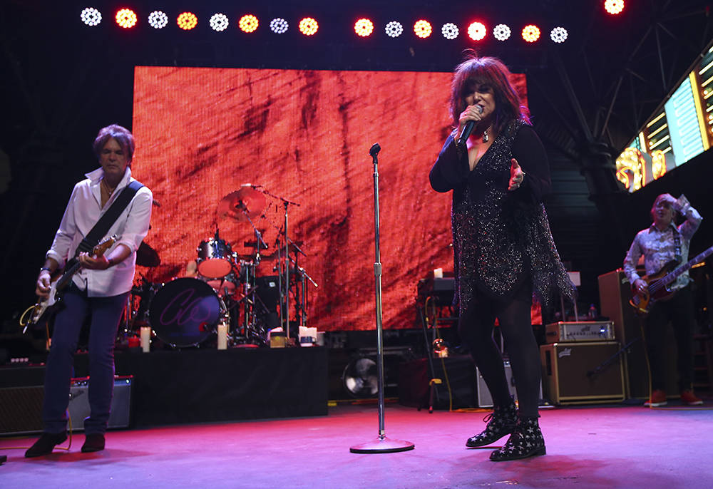 Ann Wilson of Heart performs at the Fremont Street Experience. (Chase Stevens/Las Vegas News Bureau)