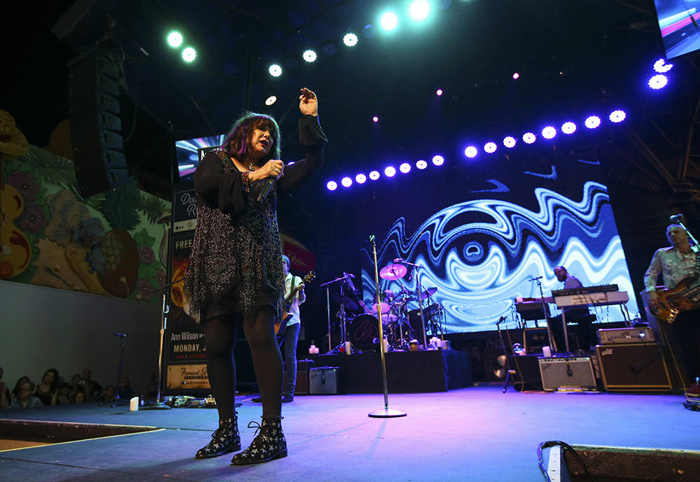 Ann Wilson of Heart performs at the Fremont Street Experience. (Chase Stevens/Las Vegas News Bureau)Bureau