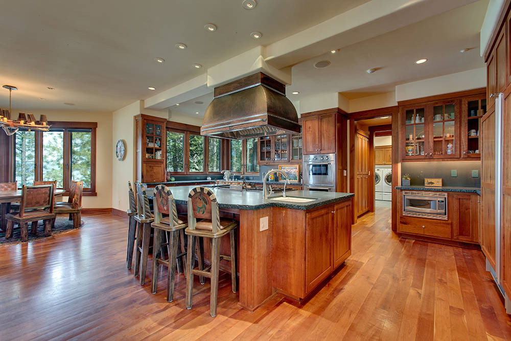 The kitchen in the main home on the 13.6-acre Glenbrook estate. (Chase International Realty)