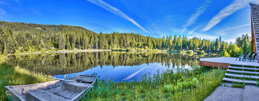 The 320-acre sanctuary in northeastern California town of Fort Bidwell has several lakes. (Sierra Sotheby's International Realty)