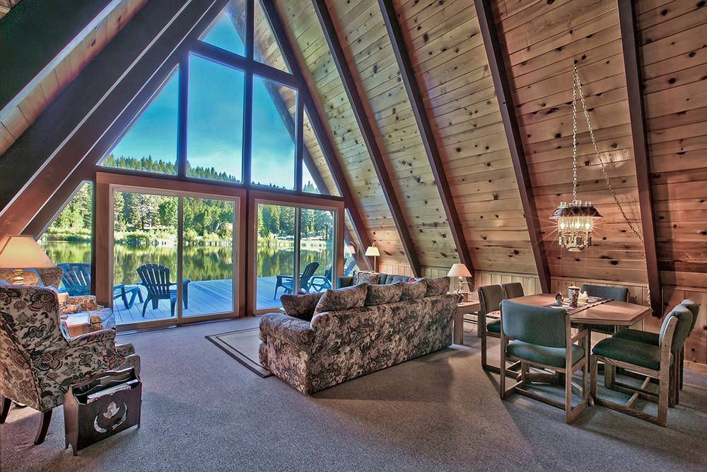 """Sierra Sotheby's International Realty  The 320-acre sanctuary in Fort Bidwell, California includes two private, spring-fed lakes, three rustic cabins and a """"traditional home."""""""