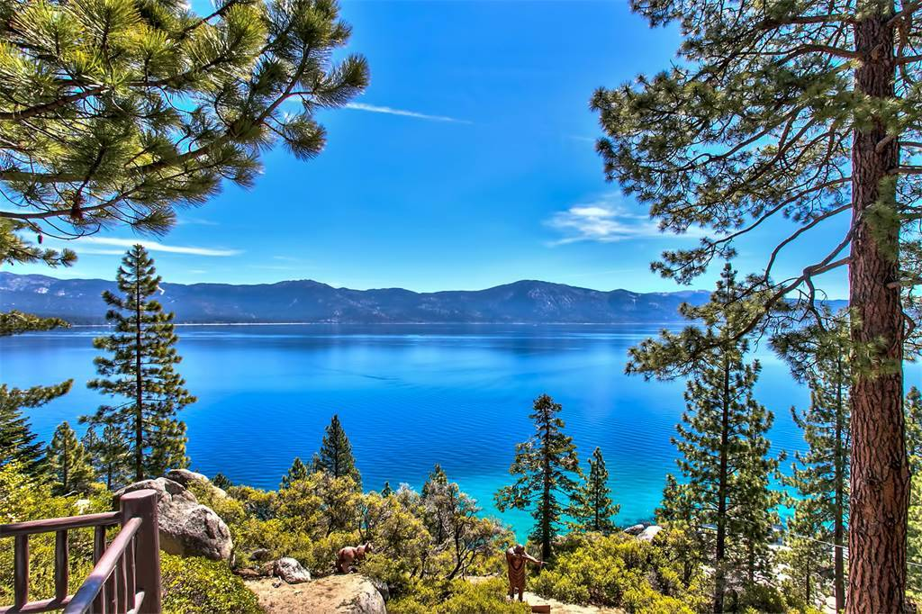 Sierra Sotheby's International Realty  A view from historic Summertide on the north shore of Crystal Bay. It was once owned by Howard Hughes.