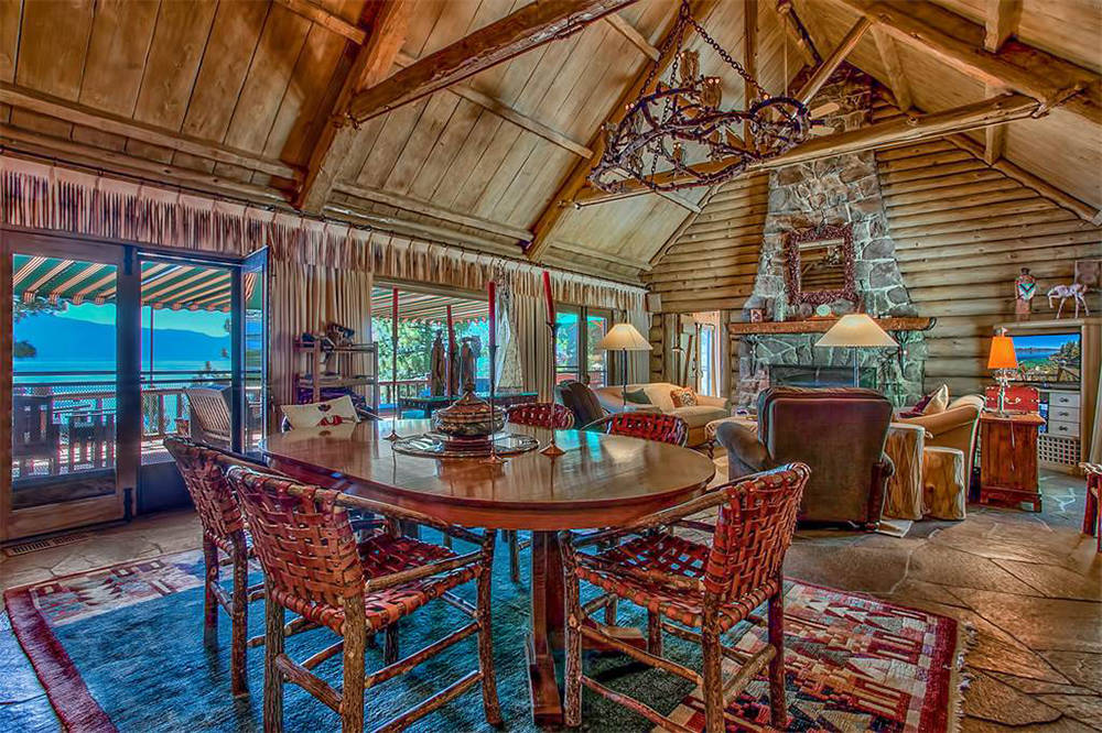Sierra Sotheby's International Realty  Built in 1934, the log home has been renovated by the owners who tried to stay true to the style and period.