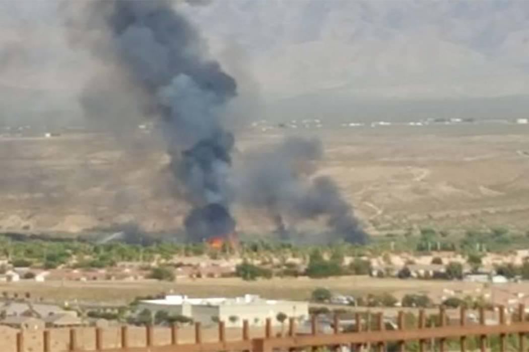 The scene from Thursday's fire in Mesquite. (Mesquite Police Department)