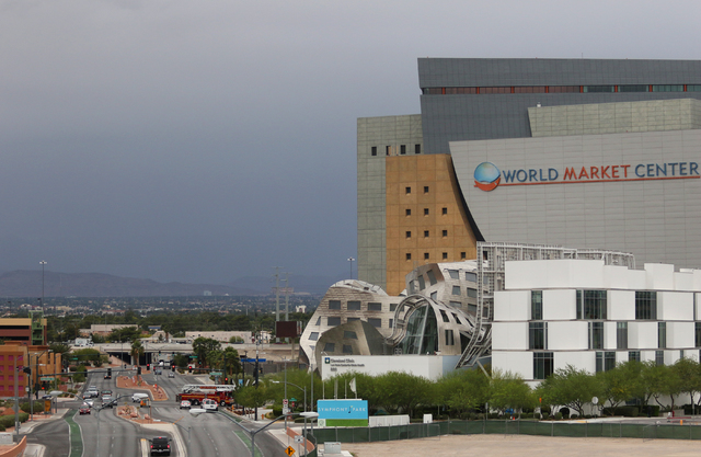 The World Market Center in downtown Las Vegas has been sold. (Ronda Churchill/Las Vegas Review-Journal)