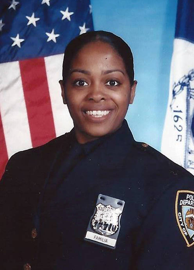This undated photo provided by the New York Police Department shows officer Miosotis Familia, who was shot to death early Wednesday, July 5, 2017, ambushed inside a command post RV by an ex-convic ...