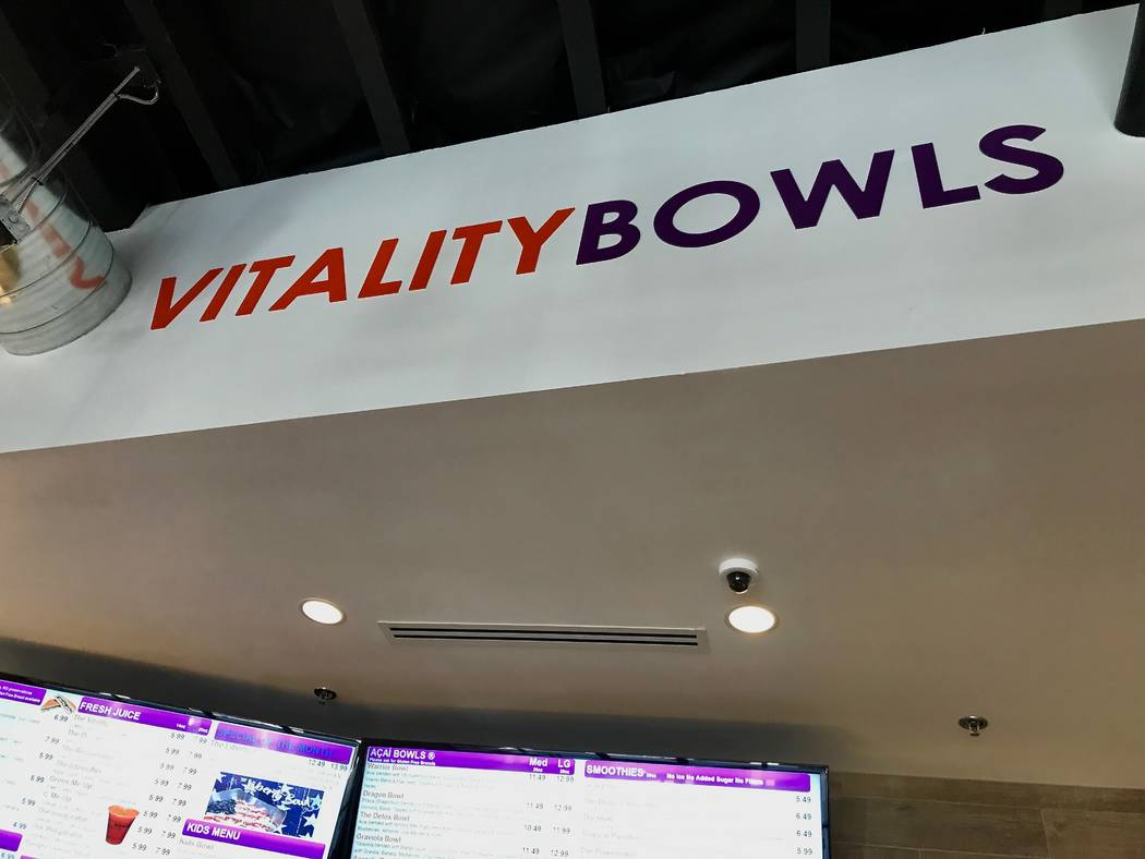 The Blue Diamond location is the first Vitality Bowls franchise in Las Vegas. A second franchise location is set to open in the northwest in August. (Madelyn Reese/View) @MadelynGReese
