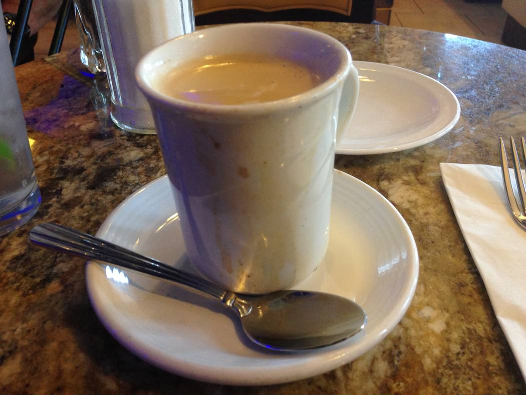 The café con leche at the Florida Cafe Cuban Bar and Grill on July 4, 2017. (Katelyn Newberg/Las Vegas Review-Journal)