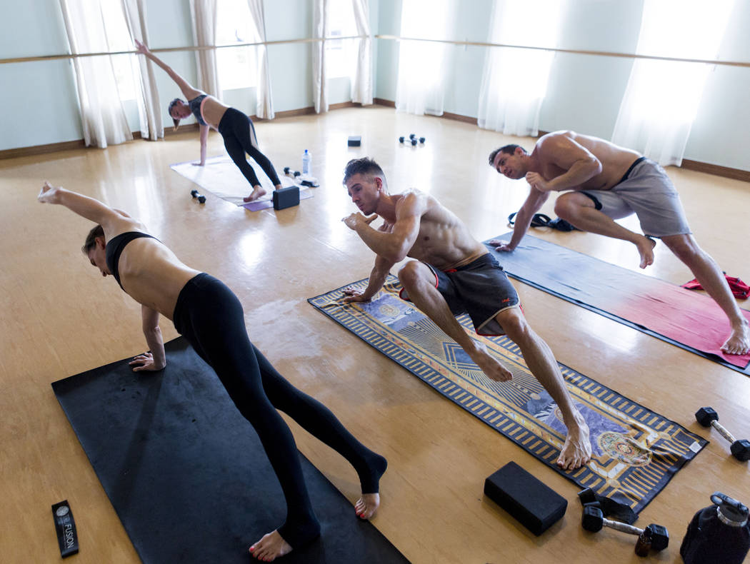 A Tru Hot Pilates class is underway at TruFusion on Eastern Avenue in Las Vegas, Tuesday, July 10, 2017. (Elizabeth Brumley/Las Vegas Review-Journal)