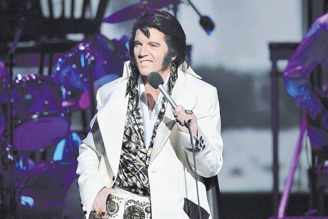 "Martin Fontaine performs as Elvis Presley during the ""Elvis Experience"" at the Westgate Las Vegas hotel-casino at 3000 Paradise Road on Thursday, May 14, 2015. (Bill Hughes/Las V ..."