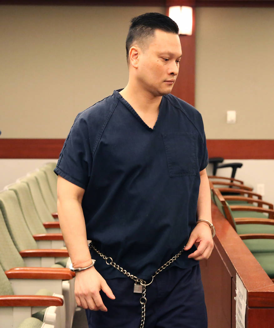 Suspended doctor Binh Chung leaves the courtroom at the Regional Justice Center after being sentenced to 50 years to life behind bars on Monday, July 10, 2017, in Las Vegas. Bizuayehu Tesfaye/Las  ...