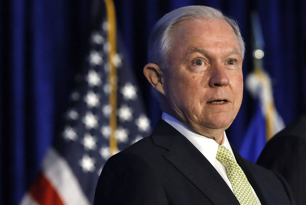 Attorney General Jeff Sessions speaks in Bethesda, Md., on June 20. (AP Photo/Jacquelyn Martin)