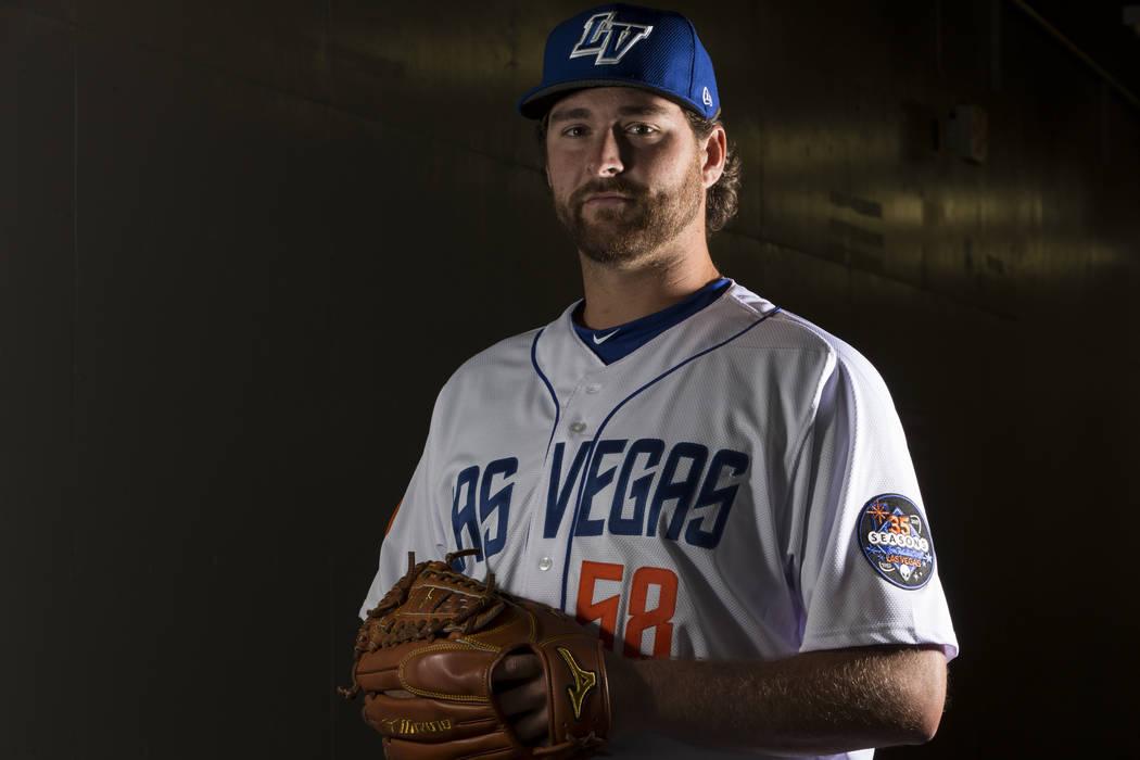 Las Vegas 51s Logan Taylor (58) during media day at Cashman Field on Tuesday, April 4, 2017, in Las Vegas. Erik Verduzco/Las Vegas Review-Journal Follow @Erik_Verduzco