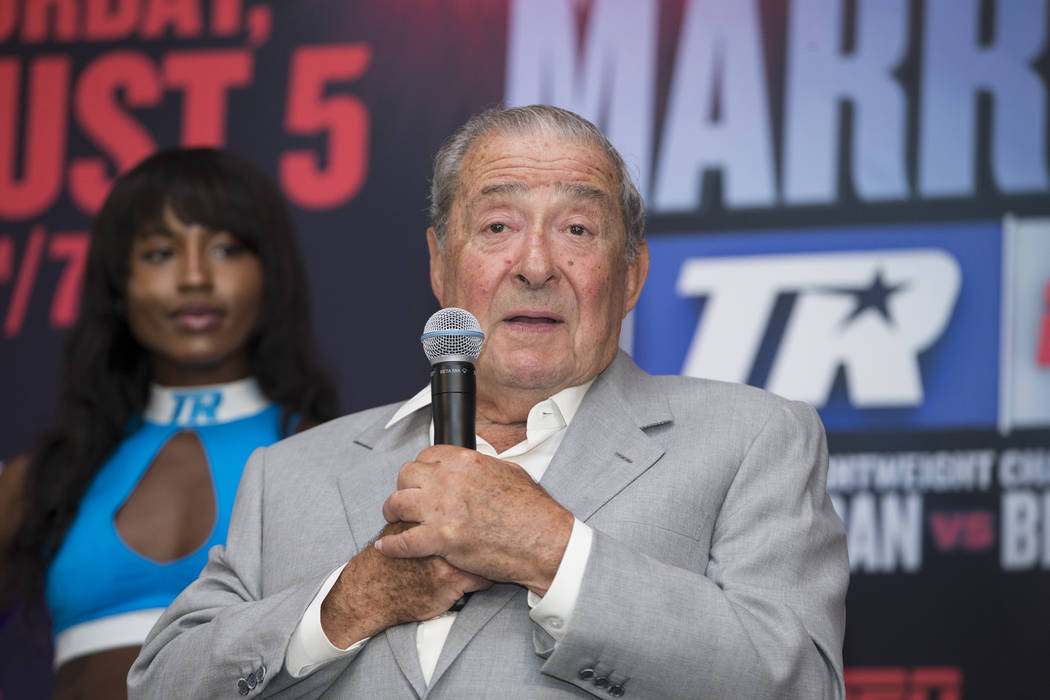 CEO of Top Rank Bob Arum during a boxing press conference in Los Angeles, Calif., on Wednesday, July 12, 2017. Erik Verduzco Las Vegas Review-Journal @Erik_Verduzco