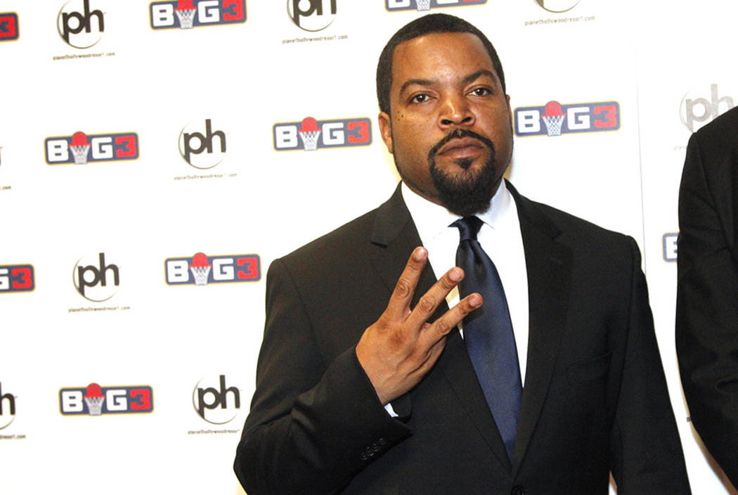 Ice Cube is seen on the red carpet on Sunday, April 30, 2017, at the BIG3 inaugural draft at Planet Hollywood. Ice Cube founded the new pro basketball football league BIG3. Rachel Aston Las Vegas  ...