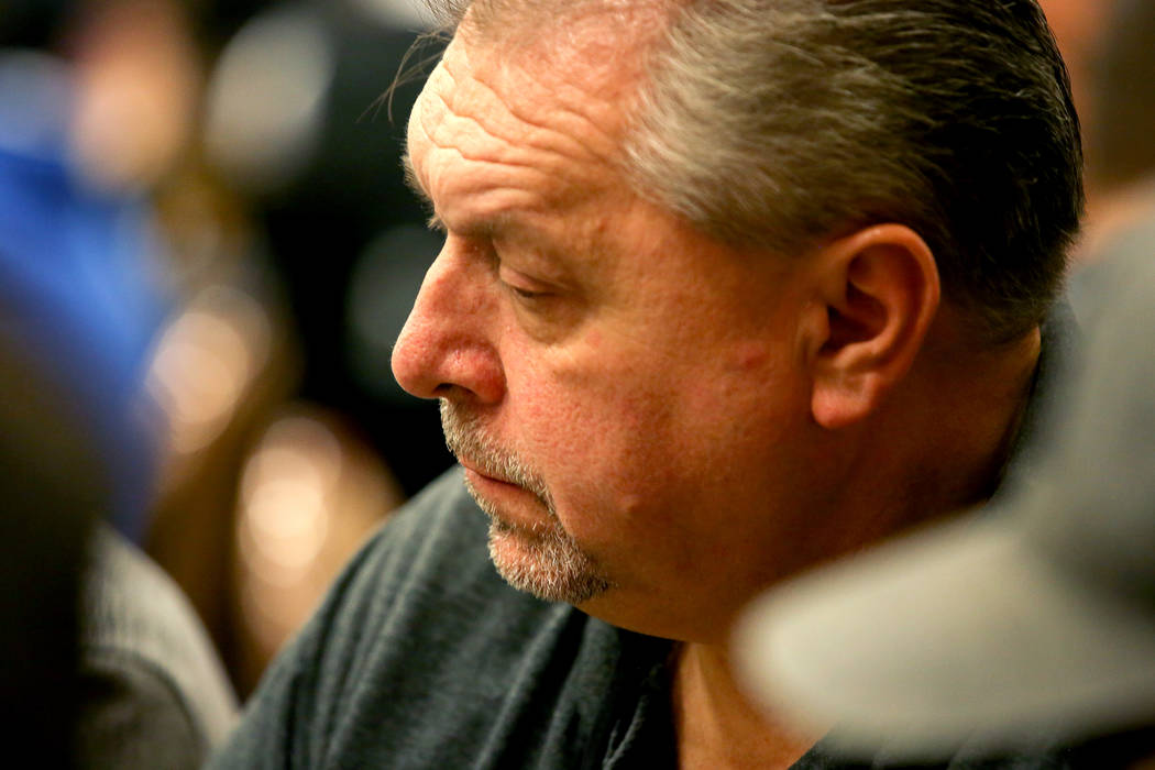 """Las Vegas local Dieter Dechant plays during the World Series of Poker at Rio Convention Center on Wednesday, July 12, 2017, in Las Vegas. Dechant won the WSOP's """"The Giant"""" No-Li ..."""
