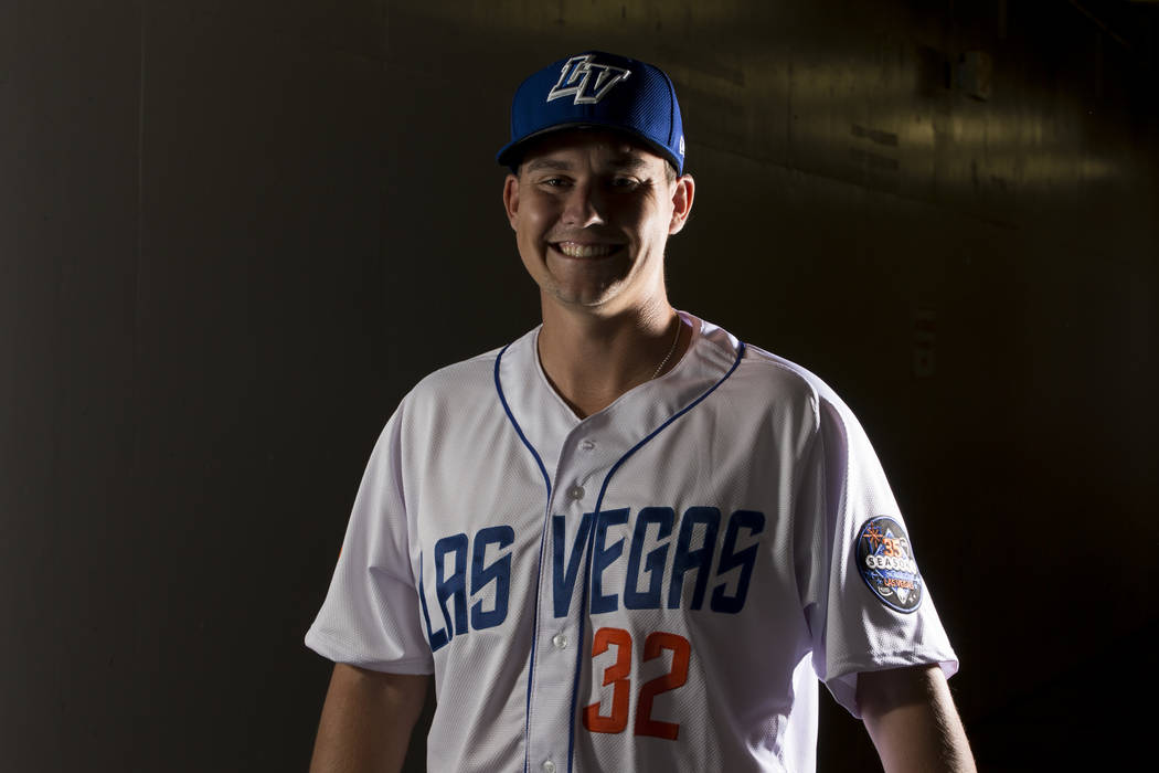 Las Vegas 51s Ricky Knapp earned the win on Sunday and also banged out three hits in the 13-11 victory. (Erik Verduzco/Las Vegas Review-Journal) Follow @Erik_Verduzco