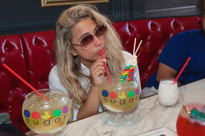Ally Brooke from the popular all girl group Fifth Harmony, celebrated her birthday with friends at Sugar Factory American Brasserie at Fashion Show iMall. (Carlos Larios)