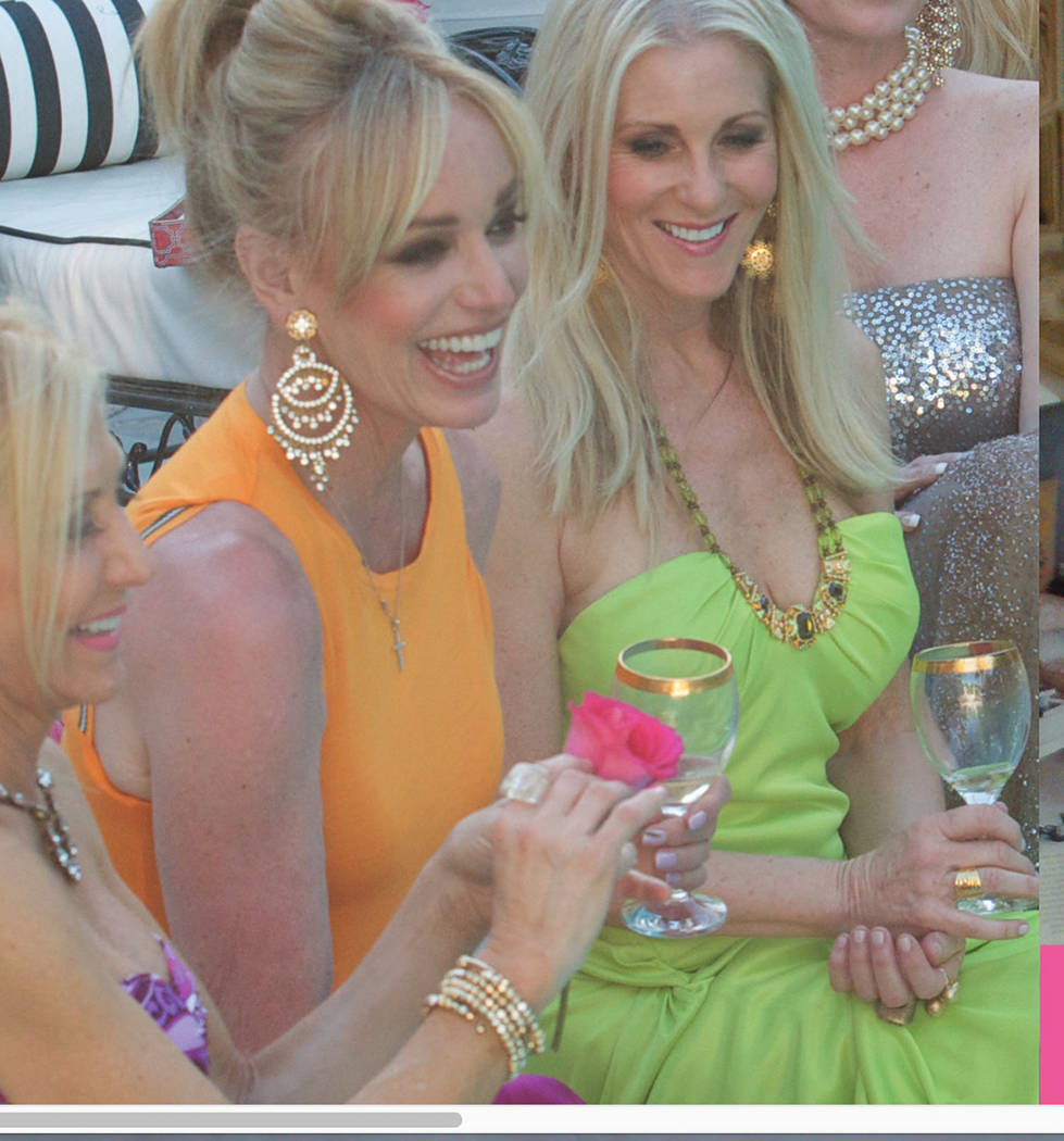 Courtesy Susan Anton, left, and business partner Karen Haines sample the latest Spa Girl Cocktails recipe.
