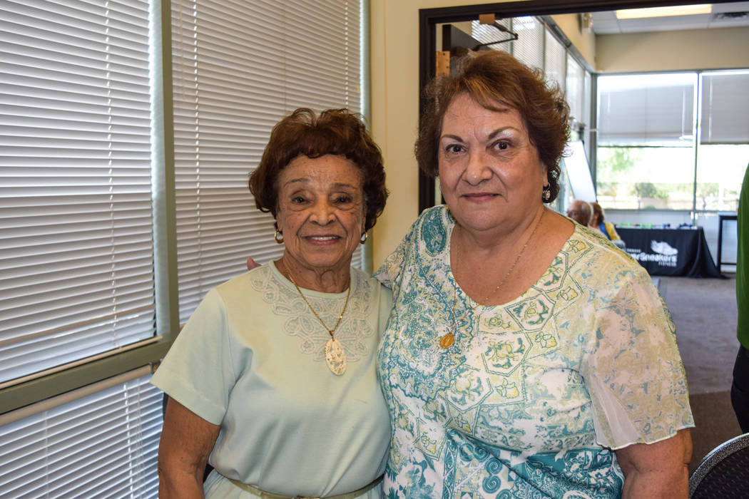 Lillian DuPlessis (left) is the oldest Humana Charity Crafter at 91. Mary Munoz, 74, taught her many of the crocheting designs she now works with. (Alex Meyer/View) @alxmey