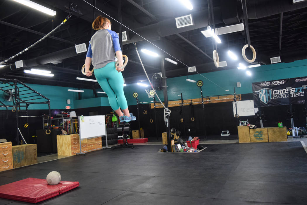 Drabicki's trains at CrossFit Henderson under her trainer Mike Snyder. She does various daily exercises in preparation for the Aug. 3 CrossFit Games. (Alex Meyer/View) @alxmey