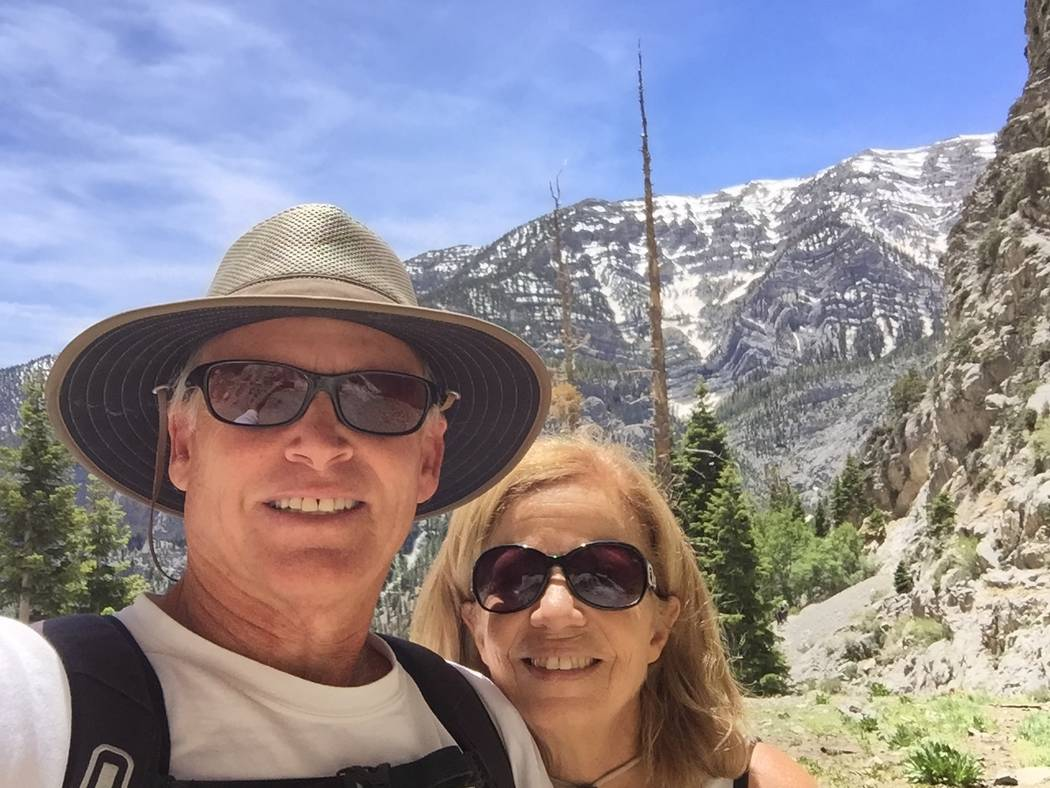 Robert Beck and wife Xio hiked at Mount Charleston only days after he was treated for blockages that could have cause a widow-maker heart attack. (Robert Beck)