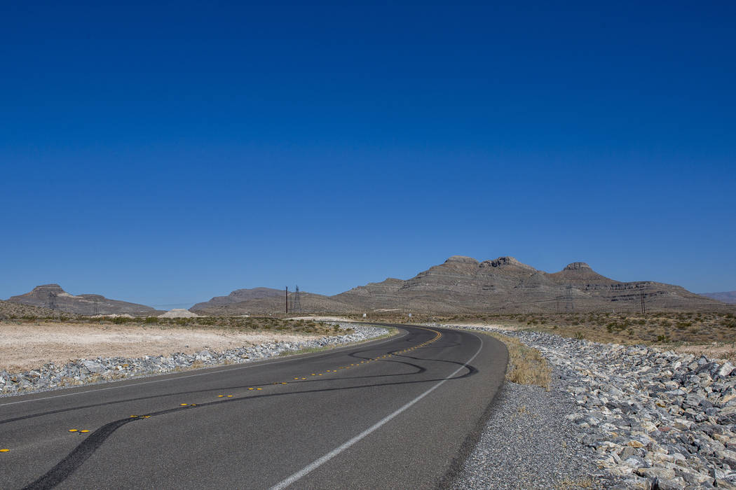 A 650-acre site, including a mountain, right, bought by a Southern Nevada contractor in Apex on Wednesday, July 5, 2017. (Patrick Connolly Las Vegas Review-Journal) @PConnPie