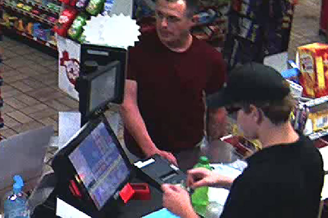 Las Vegas police are searching for a man in connection with a June 21 armed robbery at a convenience store. (Las Vegas Metropolitan Police Department)