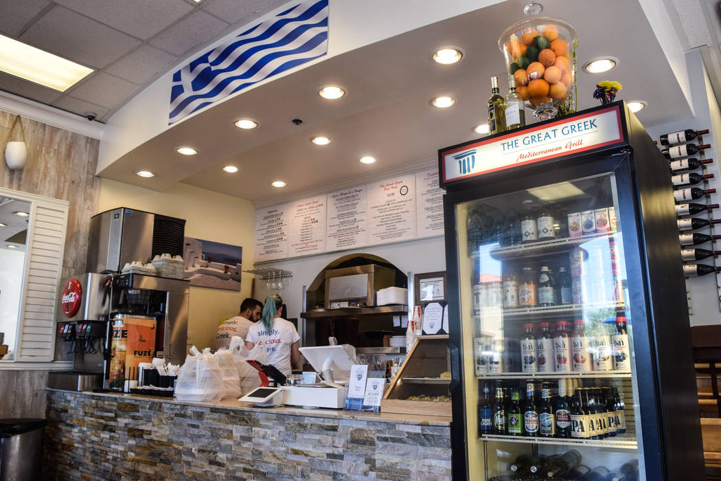 The Great Greek opened a new location June 8 at 5020 Blue Diamond Rd. (Alex Meyer/View) @alxmey
