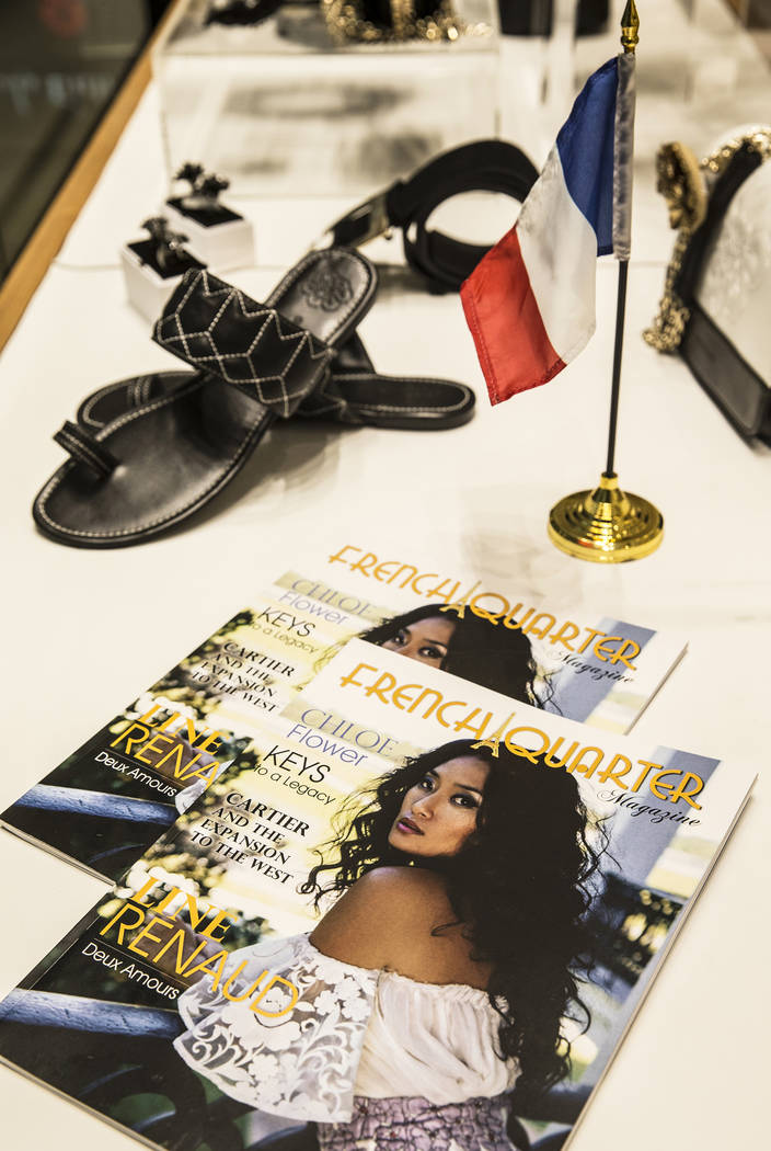 French Quarter Magazine on display at Anne Fontaine on Tuesday, July 11, 2017, at The Forum Shops at Caesars Palace hotel-casino, in Las Vegas. Benjamin Hager Las Vegas Review-Journal @benjaminhphoto