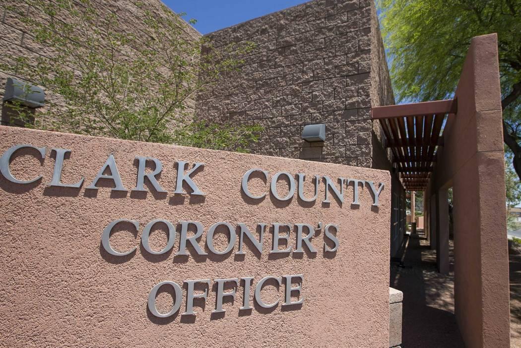 The Clark County Coroner's office (Richard Brian Las Vegas Review-Journal) @vegasphotograph
