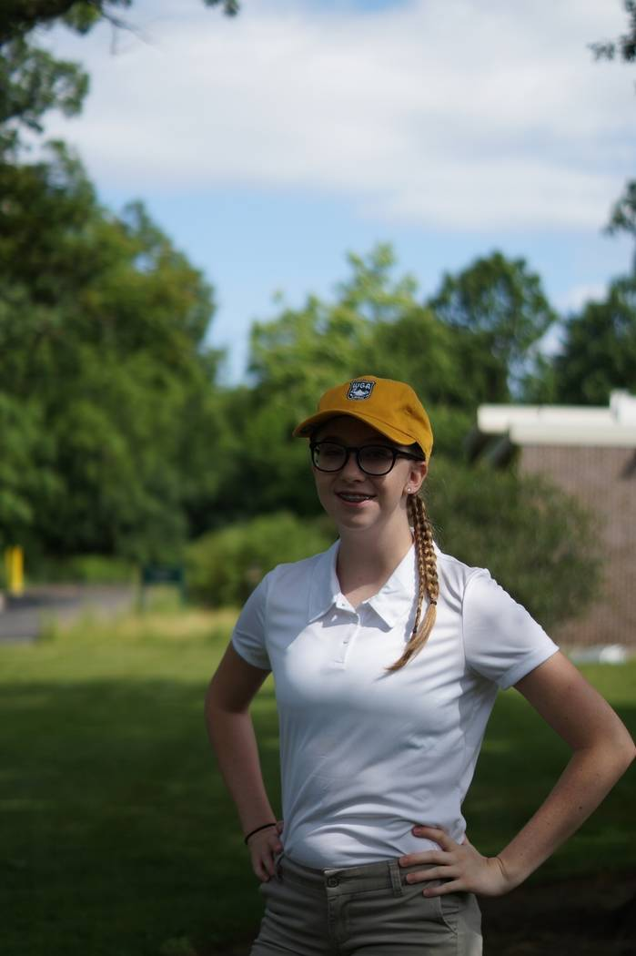 Reality Belue-Welch, an honors student at Faith Lutheran High, is the first female from Southern Nevada to attend The Caddie Academy in Chicago sponsored by the Western Golf Association. (Evans Sc ...