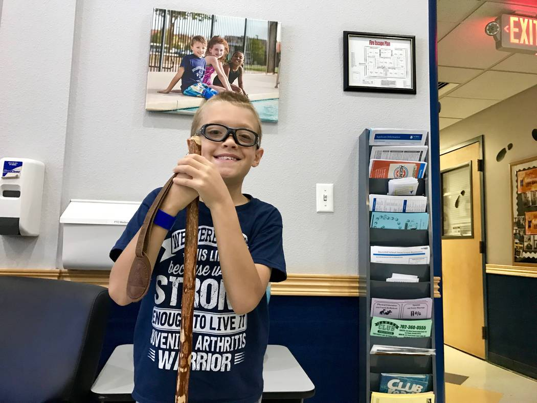 Kaspar Roden-Riisnaes, 9, was diagnosed with juvenile idiopathic arthritis in June. (Madelyn Reese/View) @MadelynGReese