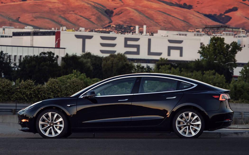 Serial Number: 1. This Tesla Model 3 goes to CEO Elon Musk. (MUST CREDIT: Tesla)