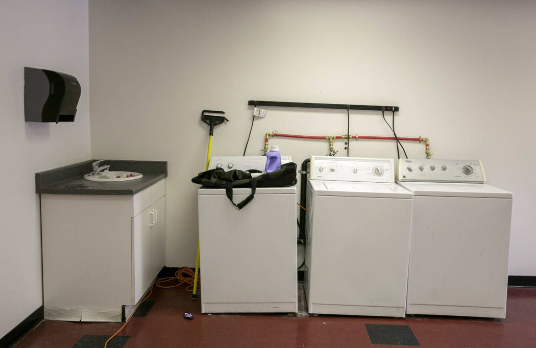 The laundry room at LoveLife Family Services in Las Vegas, Wednesday, July 12, 2017. Gabriella Angotti-Jones Las Vegas Review-Journal @gabriellaangojo