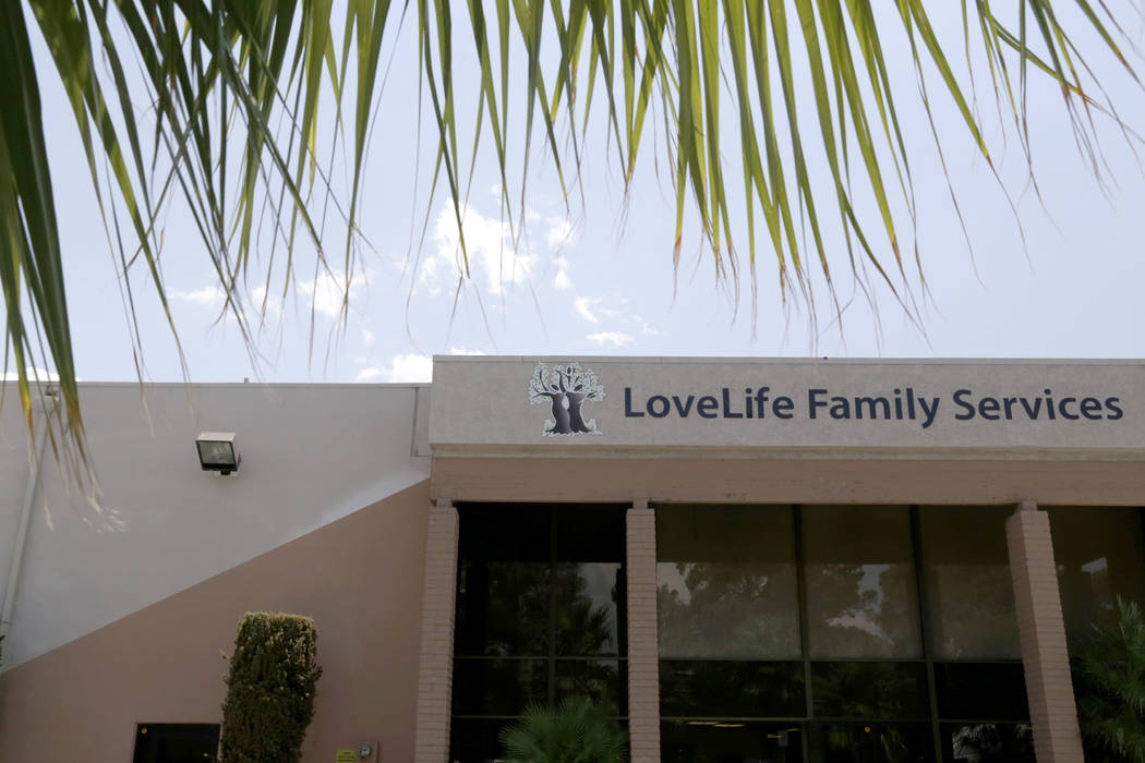at LoveLife Family Services in Las Vegas, Wednesday, July 12, 2017. Gabriella Angotti-Jones Las Vegas Review-Journal @gabriellaangojo