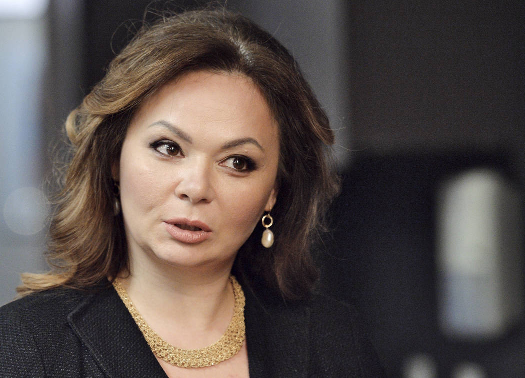 Kremlin-linked lawyer Natalia Veselnitskaya met with President Donald Trump's eldest son, Donald Jr., in 2016 at Trump Towers in New York City. (Yury Martyanov /Kommersant Photo via AP) RUSSIA OUT