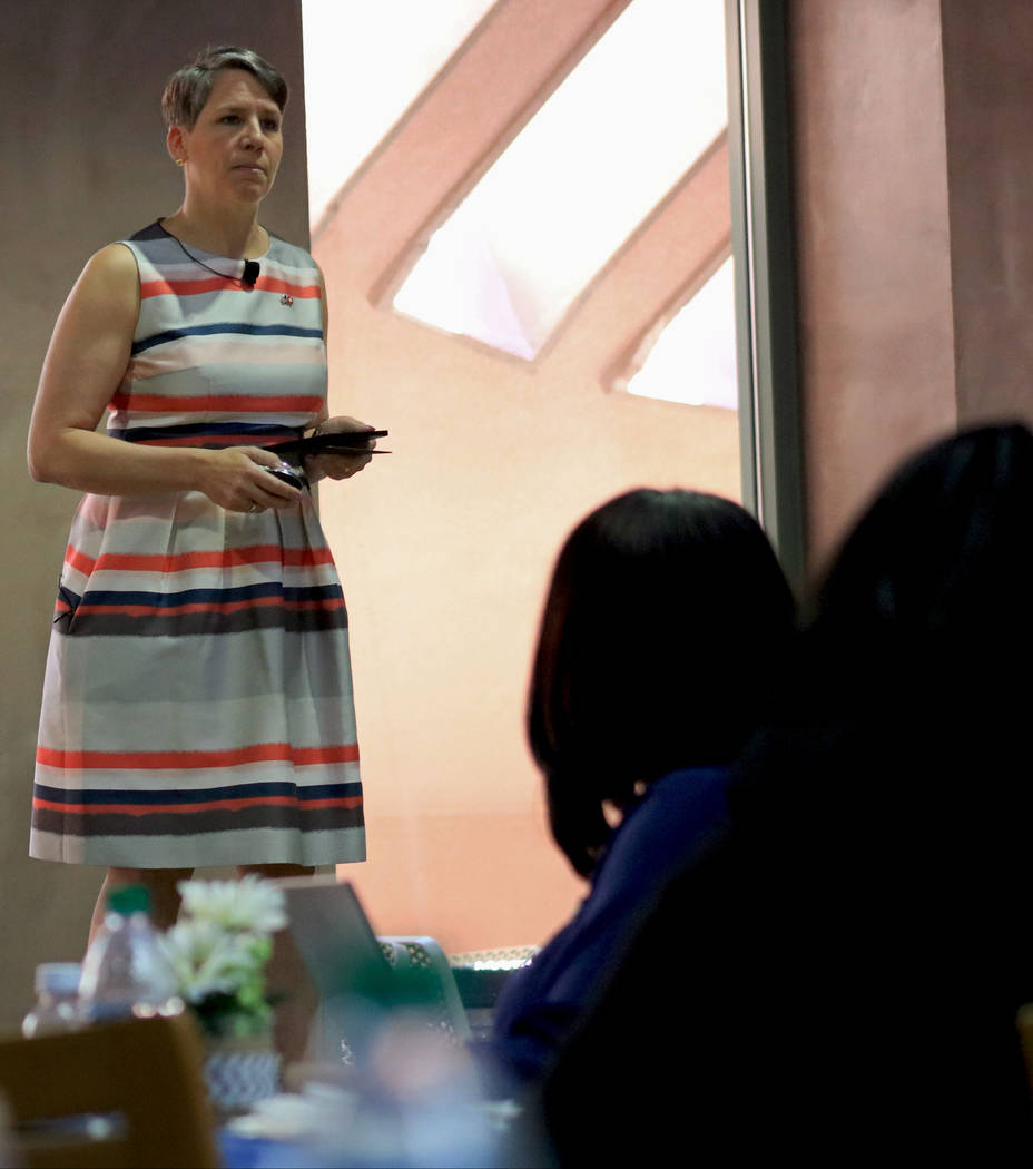Suzi LaVine at the Clark County Government Center during the Office of Workforce Innovations' conference on workforce development, Friday, July 14, 2017. Gabriella Benavidez Las Vegas Review-Journ ...