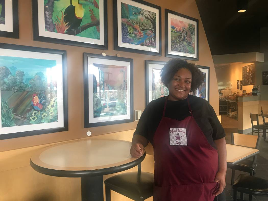 Garnita Rosamont, owner of Chess House Cafe, poses on July 10 at 6430 W. Lake Mead Blvd. #160. (Kailyn Brown/View) @KailynHype