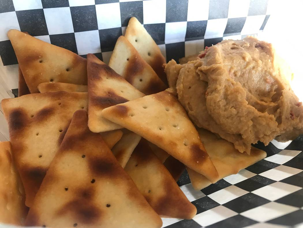 Hummus and pita chips are served on July 7 at Chess House Cafe, 6430 W. Lake Mead Blvd. #160. (Kailyn Brown/View) @KailynHype