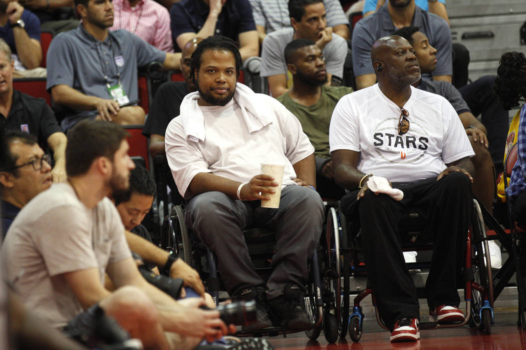 Shon Darby watches a game between the Sacramento Kings and the Memphis Grizzlies during the NBA Summer League on Sunday, July 9, 2017, at the Cox Pavilion in Las Vegas. Darby has been a fixture at ...