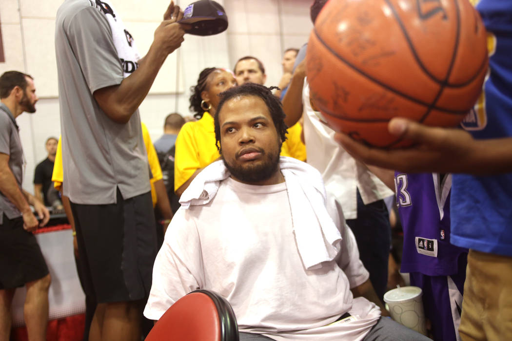 Shon Darby after a game between the Sacramento Kings and the Memphis Grizzlies during the NBA Summer League on Sunday, July 9, 2017, at the Cox Pavilion in Las Vegas. Darby has been a fixture at t ...
