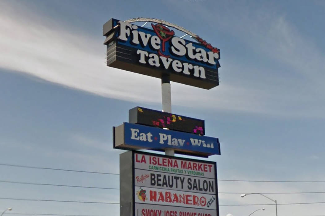 Five Star Tavern located on 2425 N. Rainbow Blvd. in Las Vegas. (Google Street View)