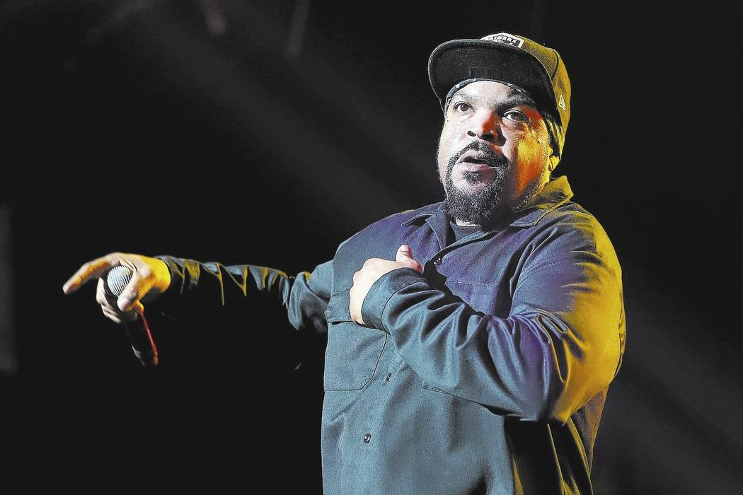 Ice Cube performs at Power 106's 2016 Cali Christmas held at The Forum on Friday, Dec. 2, 2016, in Los Angeles. (Photo by John Salangsang/Invision/AP)