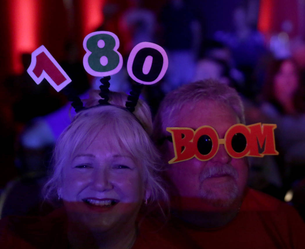 Maria John from Wales poses for a portrait during day two of PDC's U.S. Darts Masters at The Tropicana Las Vegas in  Las Vegas, Saturday, July 15, 2017. Gabriella Angotti-Jones Las Vegas Review-Jo ...